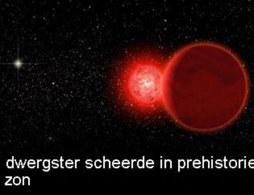 Rode dwergster scheerde in prehistorie vlak langs zon
